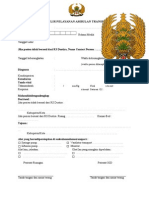 Formulir Pelayanan Ambulan Transport