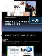 Agente o Apoderados Aduanales