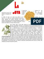 La  soja  o  soya es  una  especie  de  la  familia  de  las  leguminosas cultivada por  sus semillas.docx