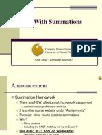 09 COP3502 Summations