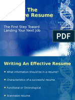 Write an Effective Resume