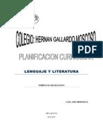 Contenidos de lengua y Literatura