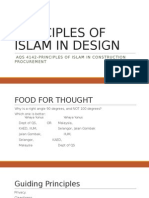 Principles of Islam in Design