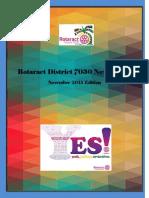 District Newsletter November 2015 Revised (English)