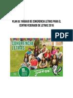 Plan de Trabajo Coherencia Letras 2016