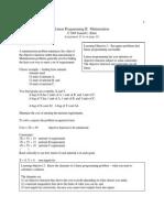 Linear Programming II