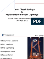 Proposal for BICT QCs - Savings of Deisel Thru Replacement of Prism Lightings