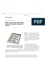 Saiba o que não pode faltar num contrato de compra e venda - Terra Brasil