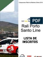Lista de Inscritos Rali PSL 2010