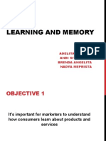 Consumer Behaviour - Learning and Memory