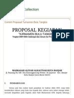 Contoh Proposal Turnamen Bulu Tangkis