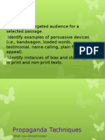 Propaganda and Persuasive Techniques in Advertisements