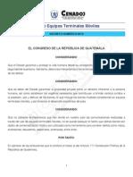 LEY DE TERMINALES MOVILES