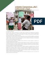 Comunidad Campesina Análisis Legal