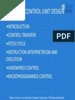 Control Unit Design