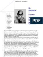 Dr Abraham T. Kovoor the Rationalist of Indian Subcontinent