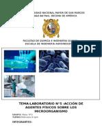 informe de factores fisicos que pueden afectar el desarrollo de la bacteria
