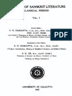 A History of Sanskrit Literature-Vol 1