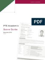 PTE Academic Score Guide