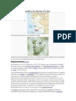 Ubicación Geográfica de Machu Picchu