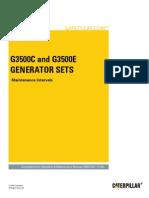 G3500C and G3500E Generator Sets-Maintenance Intervals
