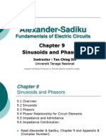 EEEB123 - Chapter 9 Sinusoids and Phasors