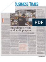 Brand Purpose - Business Times 7 Nov 2015 - Joseph Baladi