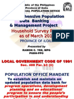 Iloilo Comprehensive Population Data  Banking  & Management Project 2011
