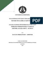Analisis Pengaruh Tol Laut Pada Perekonomian Nasional