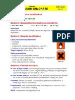 MSDS Potassium Chlorate