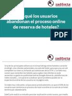 ¿Por qué los usuarios abandonan el proceso online de reserva de hoteles?