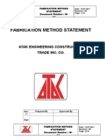Steel Fabrication Method Statement