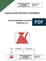 Steel Fabrication Method Statement