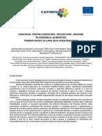 Strategia Nationala de Cercetare-Inovare in Domeniul Alimentar
