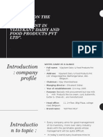 "A Study on the Inventory Management in Vijaykant Dairy and Food Products Pvt Ltd""."