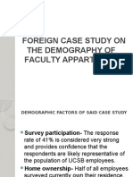 Foreign Case Study on the Demography of Faculty Appartments