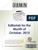 DAWN Editorials - October 2015