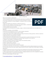 Safety Rules for Injection Molding