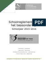 Schoolreglement September 2015-2016 Hhartsinttrudo