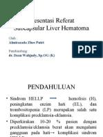 Subscapular Liver Hematoma