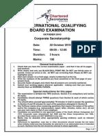 Corporate Secretaryship Paper - October 2010..Final