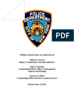 NYPD LANGUAGE ACCESS PLAN