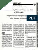 AWS Cluster Porosity in Fillet Weld