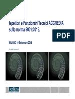 La Nuova Norma ISO 9001 2015 Presentazione ACCREDIA
