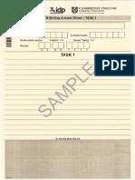 IELTS_Writing_sample Answer Sheet