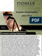 13-06-03 Pioneer Natural Resources Co June 2013 Investor Presentation