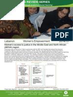 Women's Empowerment in Lebanon