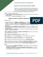 RAPPORT D'ACTIVITES DU CMAP DU 29 OCTOBRE 2015