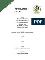 Practica 2 análisis de circuito CD