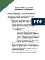 Microbiologia. Características generales de bacterias y metodos diagnosticos